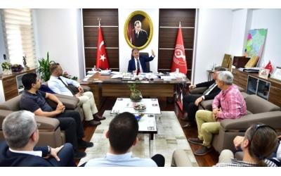 Mustafa İduğ Başkanımız ile Sanayi Siteleri İçin Anjiyo ve Diğer Projelerini Görüştük