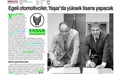 Yaşar Üniversitesi Yüksek Lisans Protokolü